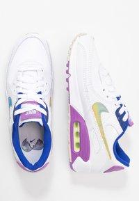 Nike Sportswear - AIR MAX 90 - Trainers - white/multicolor/purple/barely volt/hyper blue/hydrogen blue - 3