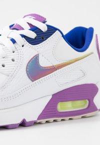 Nike Sportswear - AIR MAX 90 - Trainers - white/multicolor/purple/barely volt/hyper blue/hydrogen blue - 2