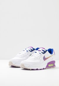 Nike Sportswear - AIR MAX 90 - Trainers - white/multicolor/purple/barely volt/hyper blue/hydrogen blue - 4