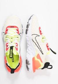 Nike Sportswear - REACT VISION - Trainers - pale ivory/black/volt/laser crimson - 3