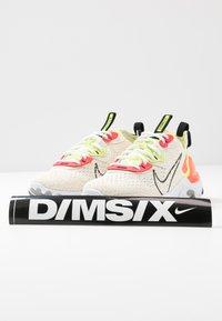 Nike Sportswear - REACT VISION - Trainers - pale ivory/black/volt/laser crimson - 7