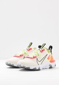 Nike Sportswear - REACT VISION - Trainers - pale ivory/black/volt/laser crimson - 4