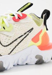 Nike Sportswear - REACT VISION - Trainers - pale ivory/black/volt/laser crimson - 2