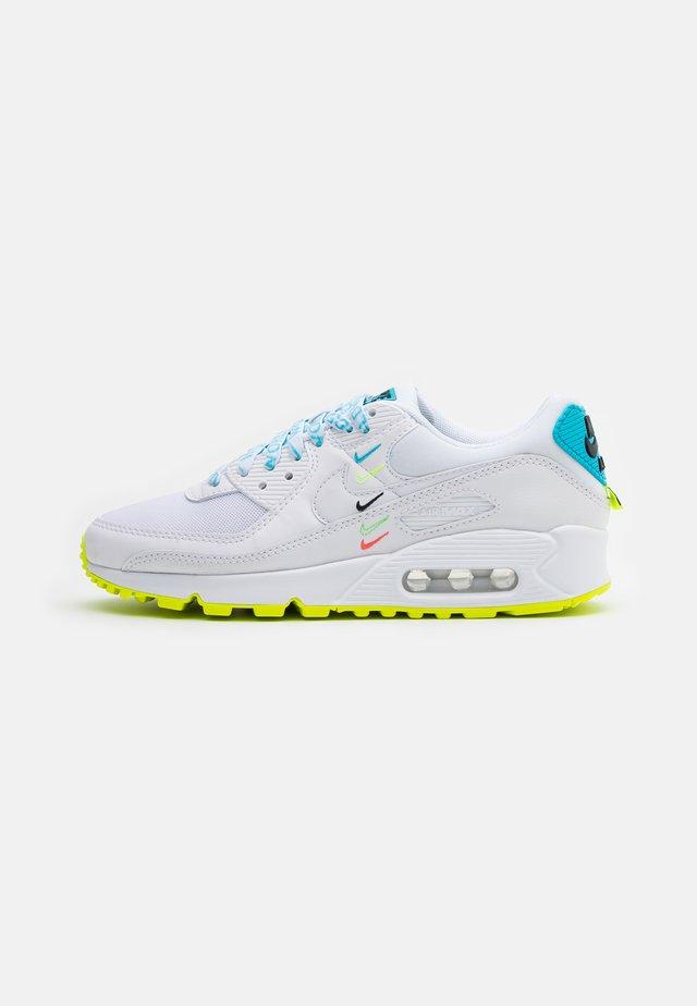 AIR MAX 90 - Sneakers laag - white/blue fury/volt/black