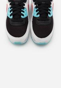 Nike Sportswear - AIR MAX 90 - Sneakers laag - summit white/chile red/bleached aqua/black - 7