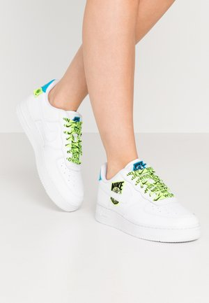 AIR FORCE  - Trainers - white/volt/laser blue/black