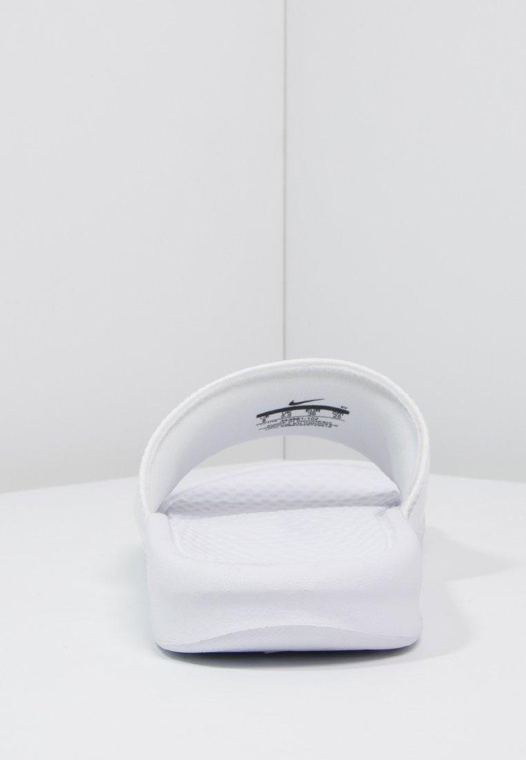Nike Sportswear BENASSI - Mules - white/metallic silver
