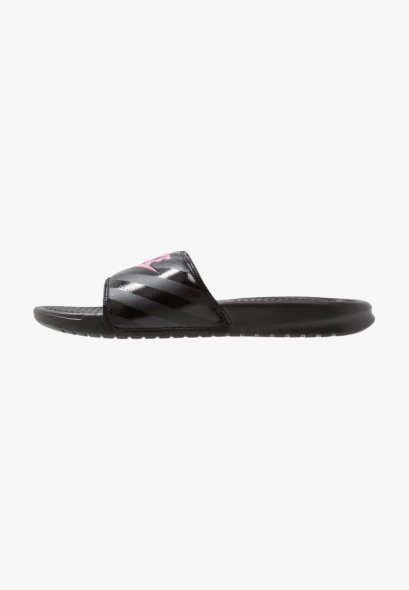 Nike Sportswear - BENASSI - Pantofle - black/vivid pink