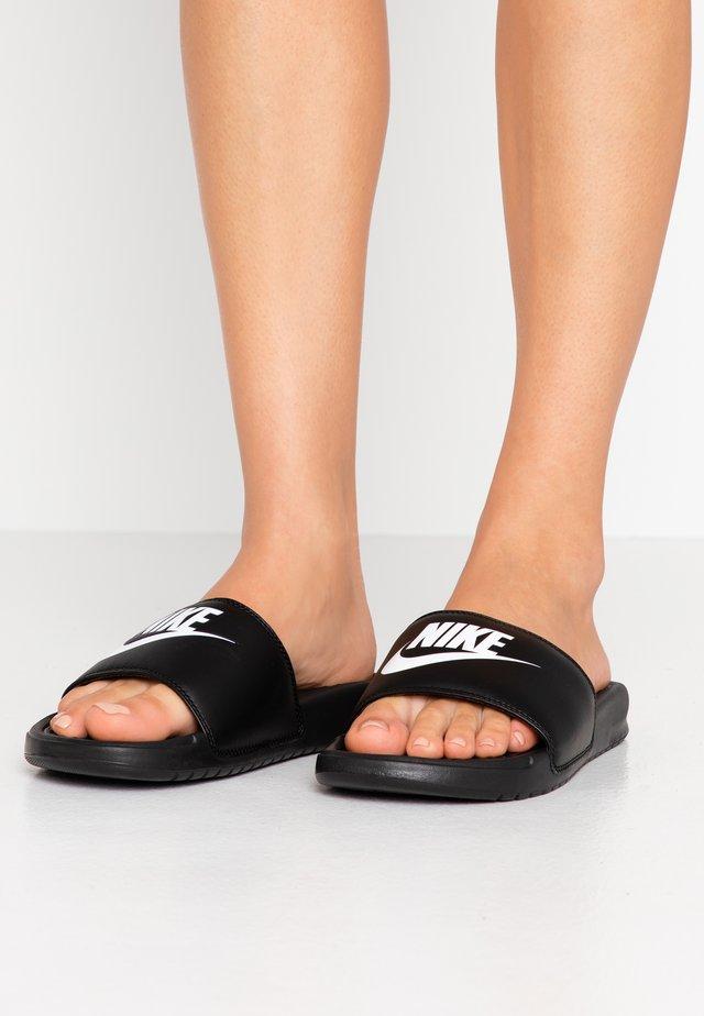 BENASSI - Slip-ins - black/white