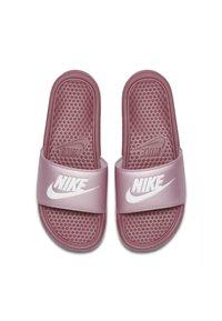Nike Sportswear - BENASSI JUST DO IT - Sandales de bain - shadowberry/plum chalk/white - 1