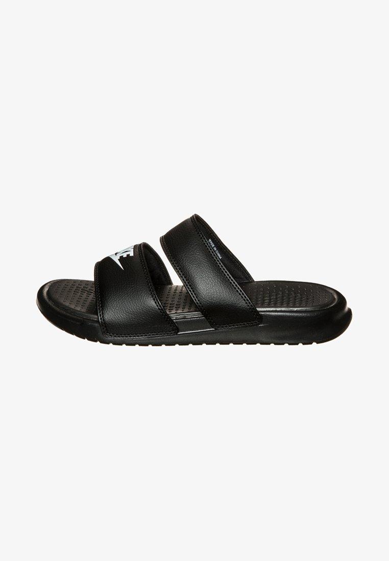 Nike Sportswear - BENASSI DUO ULTRA SLIDE - Sandales de bain - black/white