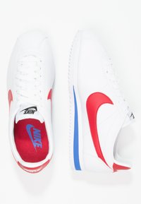 Nike Sportswear - CLASSIC CORTEZ LEATHER - Joggesko - white/varsity red/varsity royal