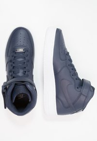 Nike Sportswear - AIR FORCE 1 MID '07 - Sneakers hoog - obsidian/white - 1