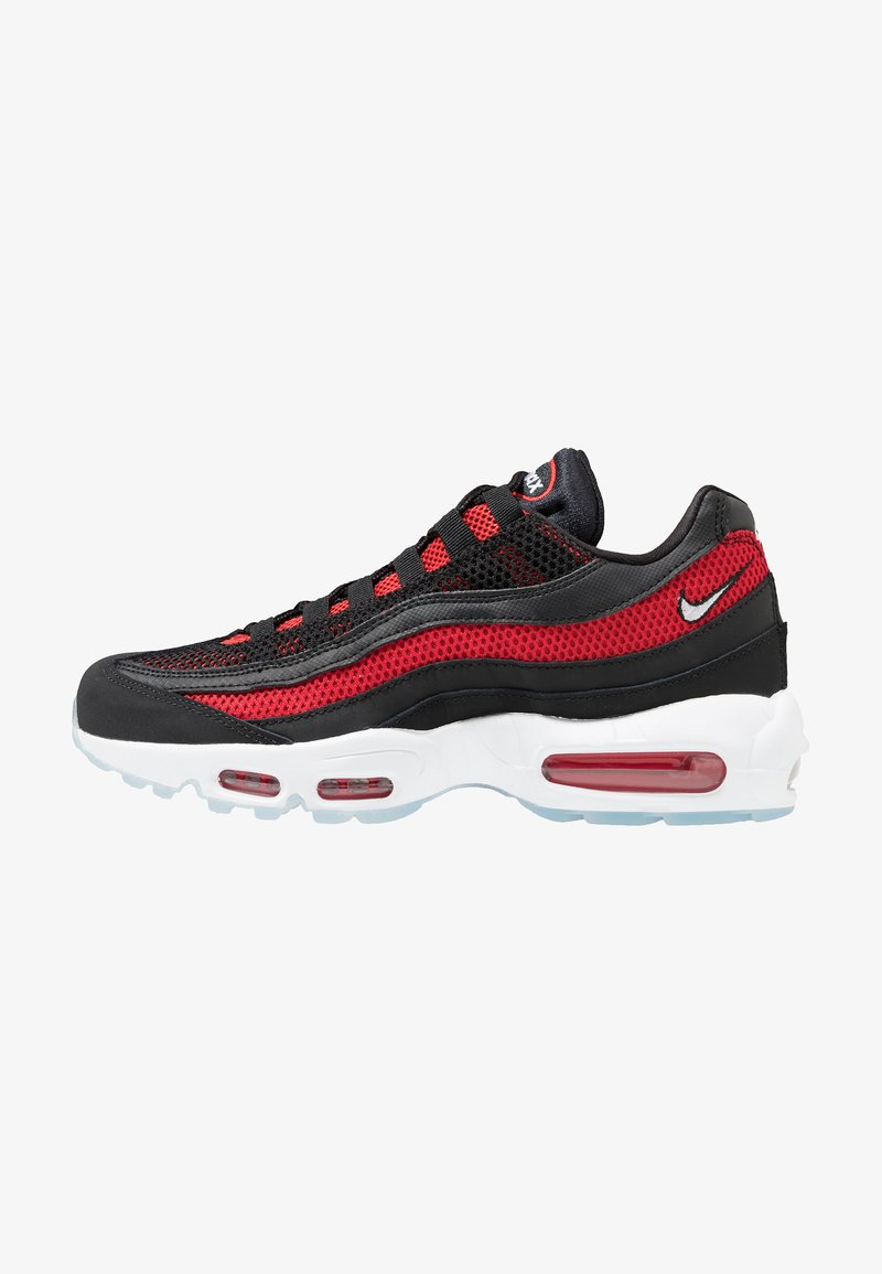 Nike Sportswear - AIR MAX 95 ESSENTIAL - Trainers - black/white/university red/reflect silver