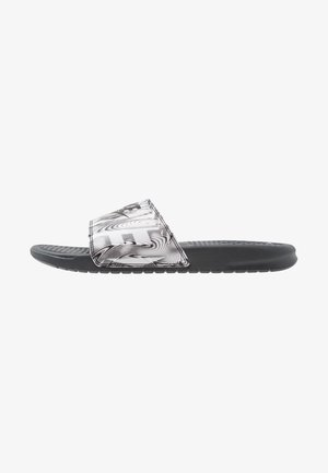 BENASSI JDI PRINT - Pantolette flach - anthracite/black