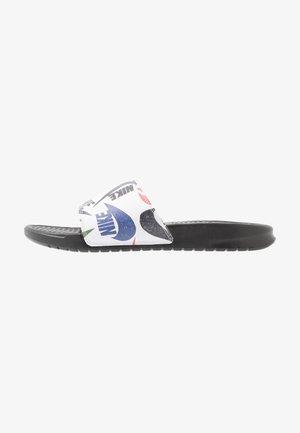 BENASSI JDI PRINT - Pantofle - black/white/multicolor