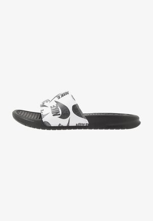 BENASSI JDI PRINT - Pantofle - black/white