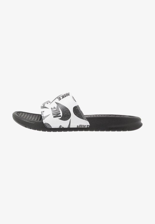 BENASSI JDI PRINT - Sandalias planas - black/white
