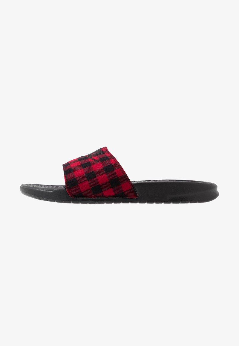 Nike Sportswear - BENASSI JDI SE - Sandaler - black/university red