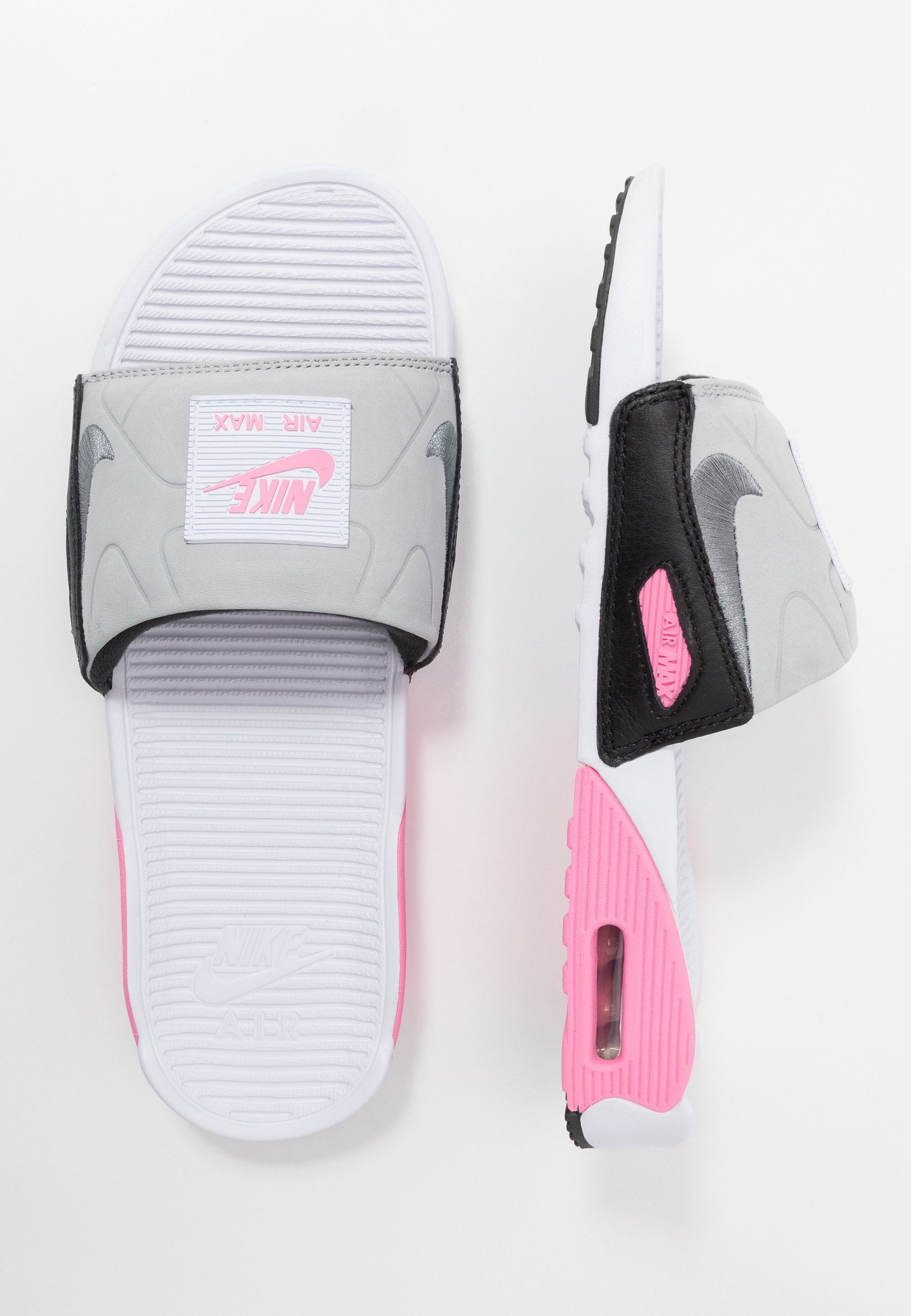 Nike Sportswear Air Max 90 Slide - Pantolette Flach White/cool Grey-rose-pure Platinum-black Black Friday