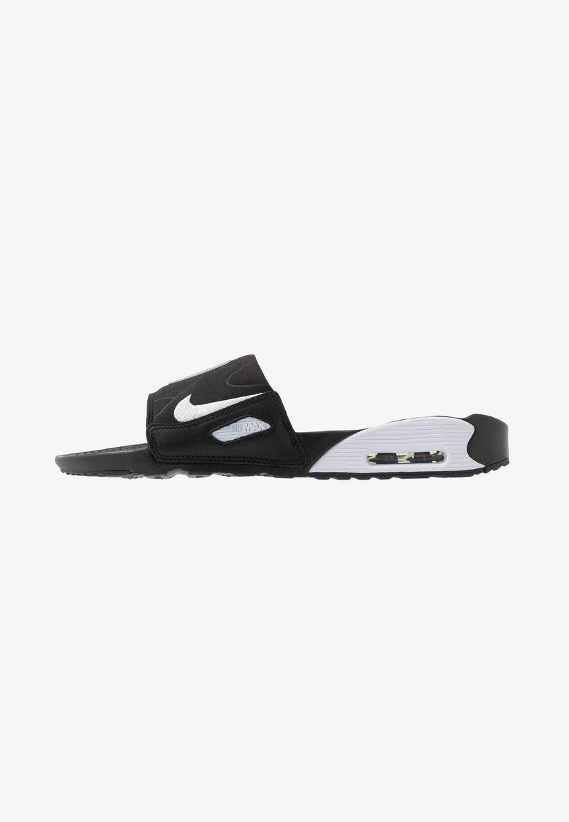 Nike Sportswear - AIR MAX 90 SLIDE - Sandaler - black/white