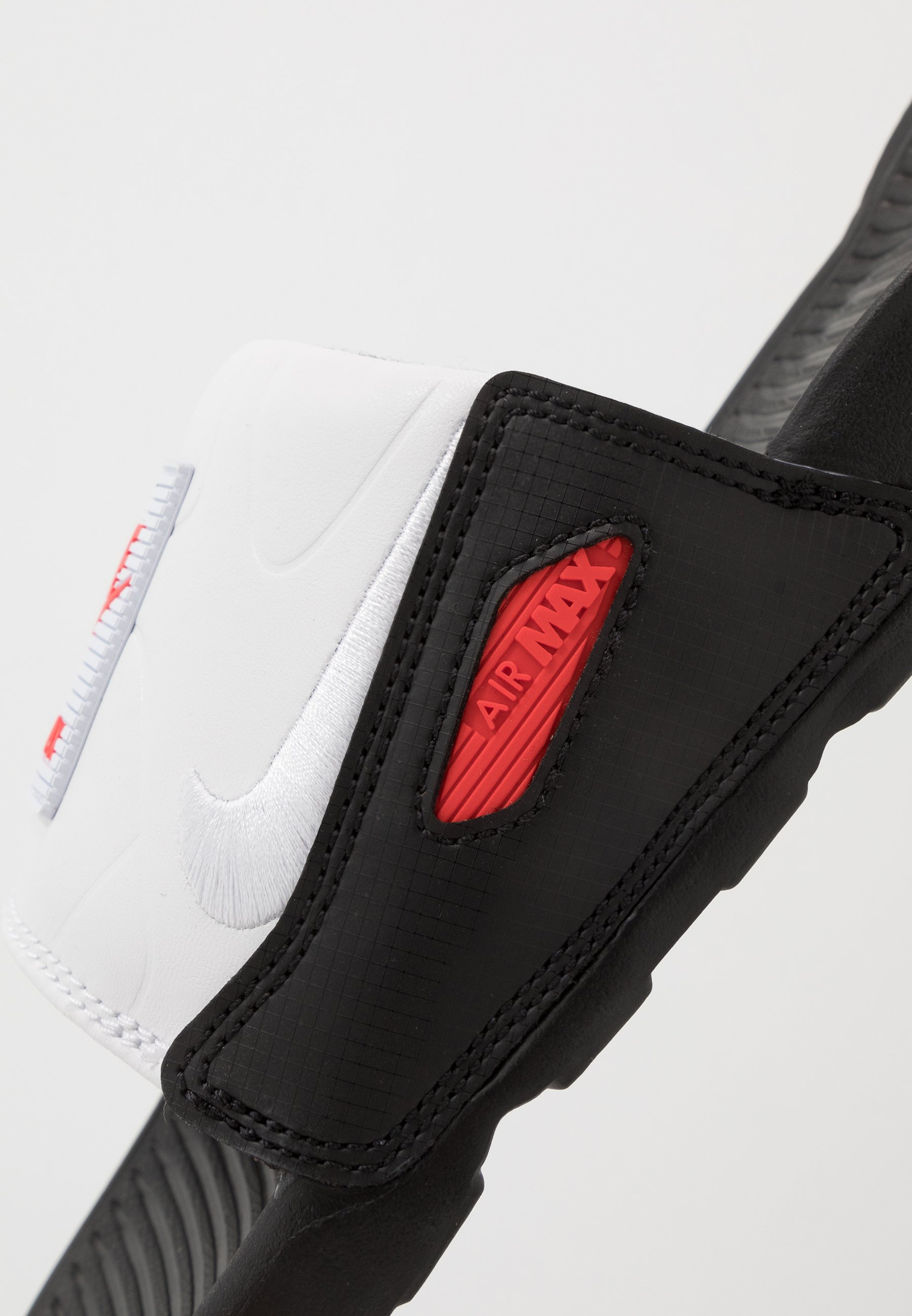 Nike Sportswear AIR MAX 90 SLIDE - Sandaler - black/white/chile red