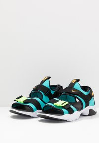Nike Sportswear - CITY SANDAL - Sandalias de senderismo - oracle aqua/laser orange/black/ghost green/white