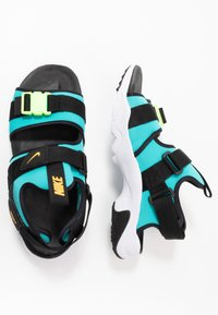 Nike Sportswear - CITY SANDAL - Sandalias de senderismo - oracle aqua/laser orange/black/ghost green/white - 1