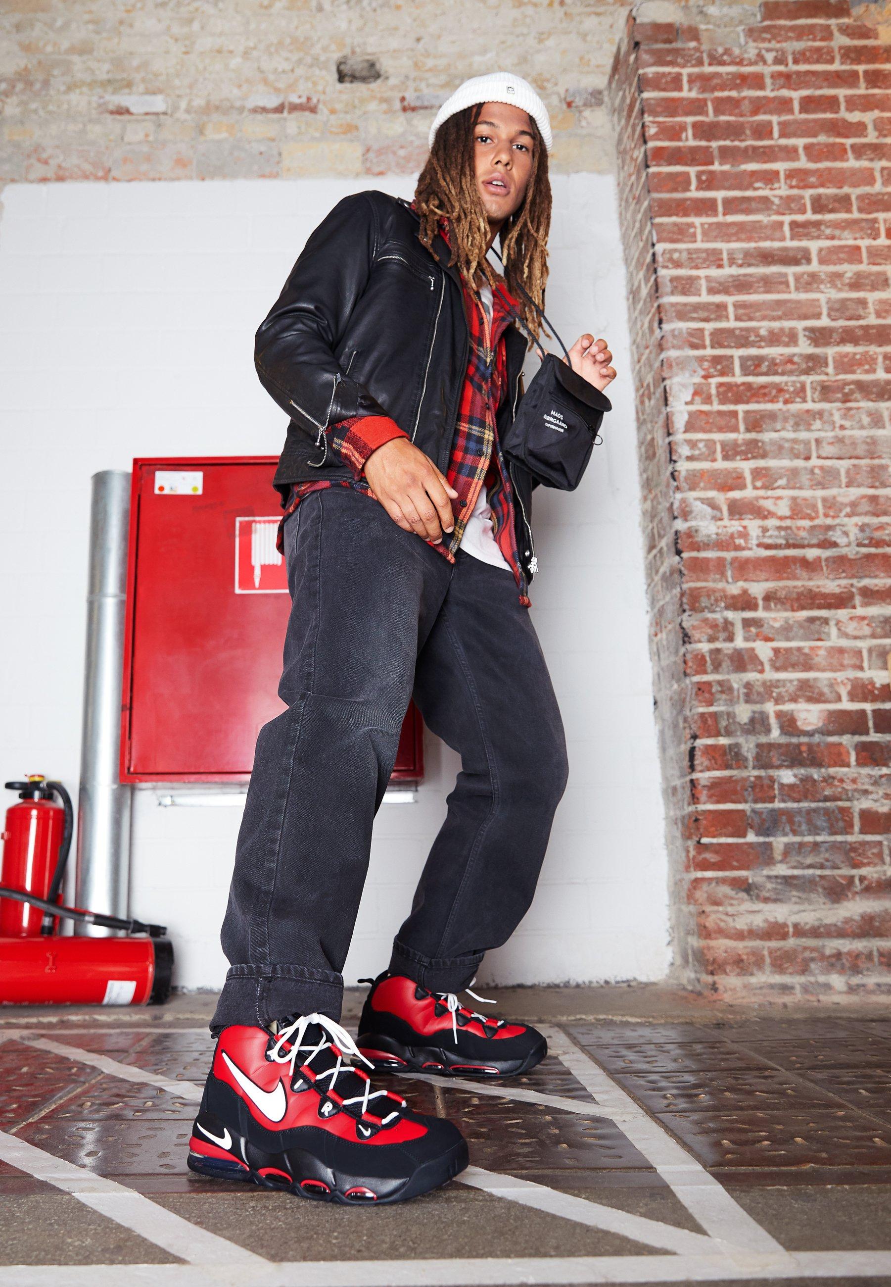 MAX Nike montantes white UPTEMPO AIR black '95Baskets Sportswear red university PkZuXOi