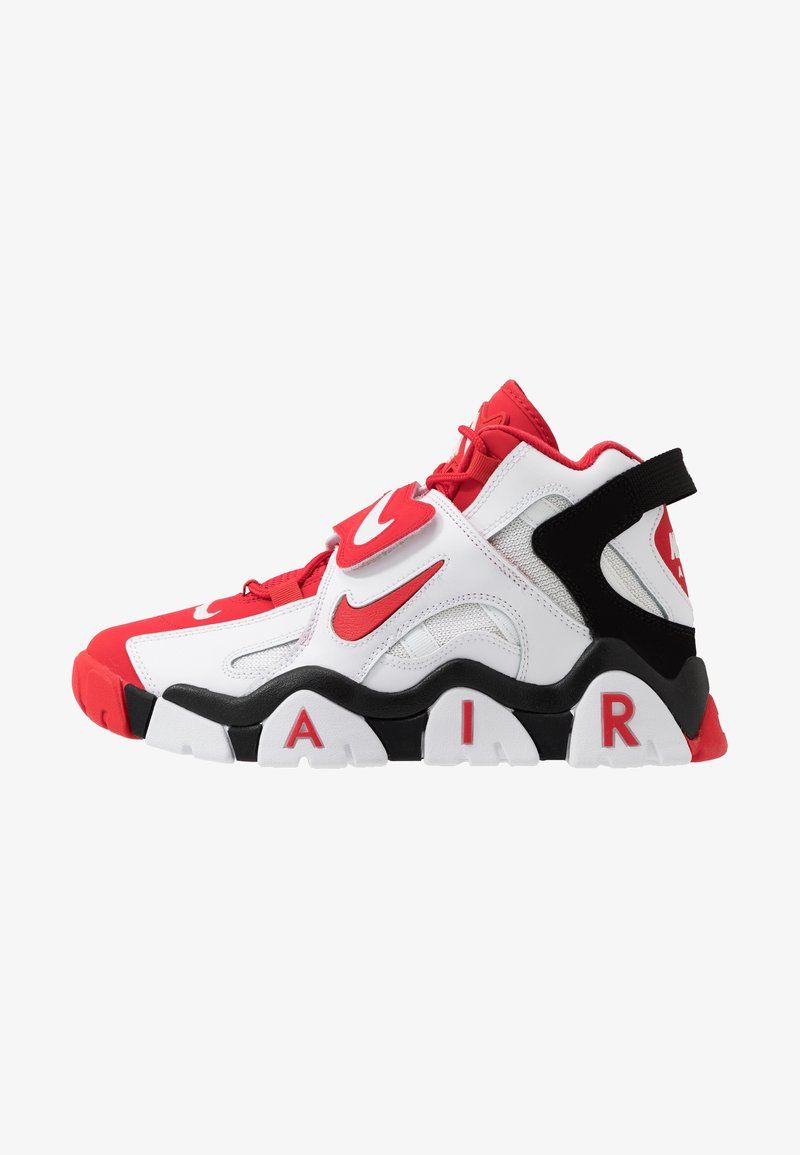 Nike Sportswear - AIR BARRAGE MID - Vysoké tenisky - white/university red/black