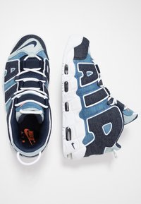 Nike Sportswear - AIR MORE UPTEMPO '96 QS - High-top trainers - white/obsidian/total orange - 2