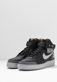 Nike Sportswear - AIR FORCE 1 - Zapatillas altas - black/wolf grey/dark grey/total orange/white - 2