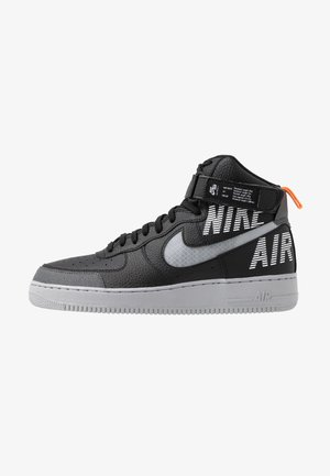 AIR FORCE 1 - Sneakers hoog - black/wolf grey/dark grey/total orange/white