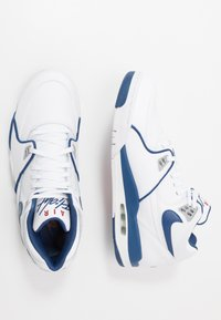 Nike Sportswear - AIR FLIGHT 89 - Korkeavartiset tennarit - white/dark royal blue/varsity red - 2