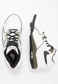 Nike Sportswear - AIR FLIGHT 89 - High-top trainers - white/black/medium olive - 1