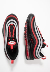 Nike Sportswear - AIR MAX 97 - Sneakersy niskie - black/university red/metallic silver - 1