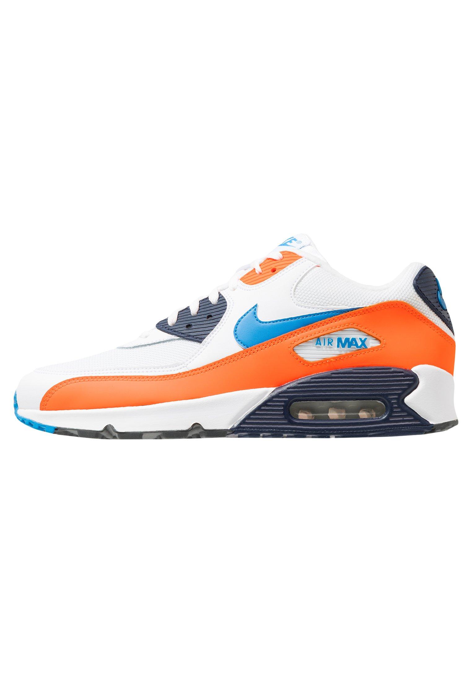 AIR MAX 90 ESSENTIAL Sneakers basse whitephoto bluetotal orangemidnight navydark grey