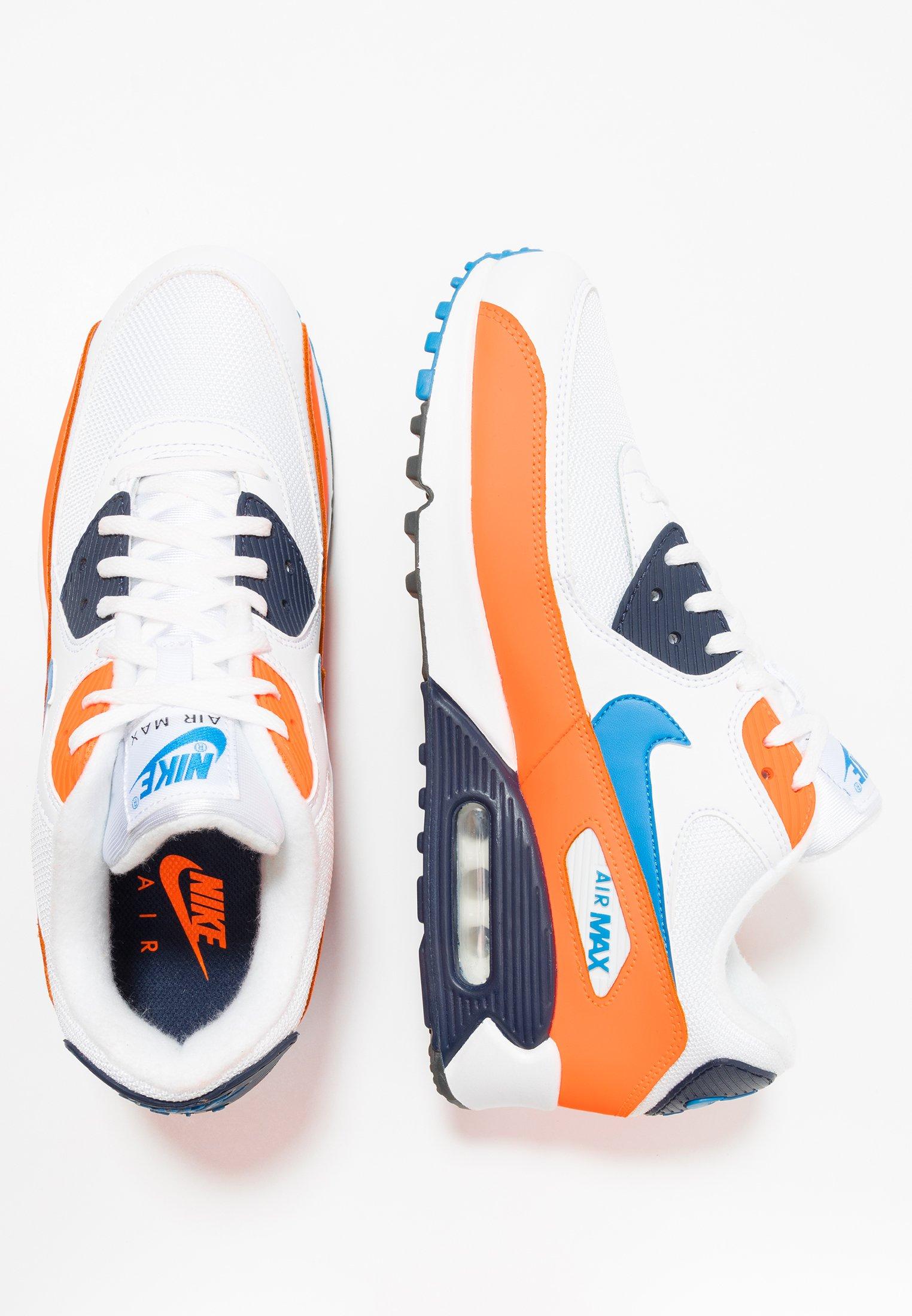 AIR MAX 90 ESSENTIAL Baskets basses whitephoto bluetotal orangemidnight navydark grey