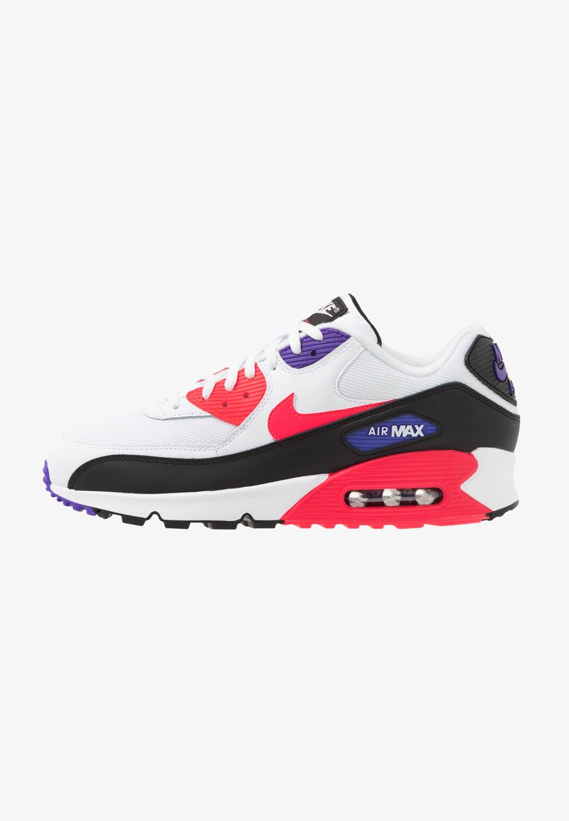 Nike Sportswear - AIR MAX 90 ESSENTIAL - Trainers - white/red orbit/psychic purple/black