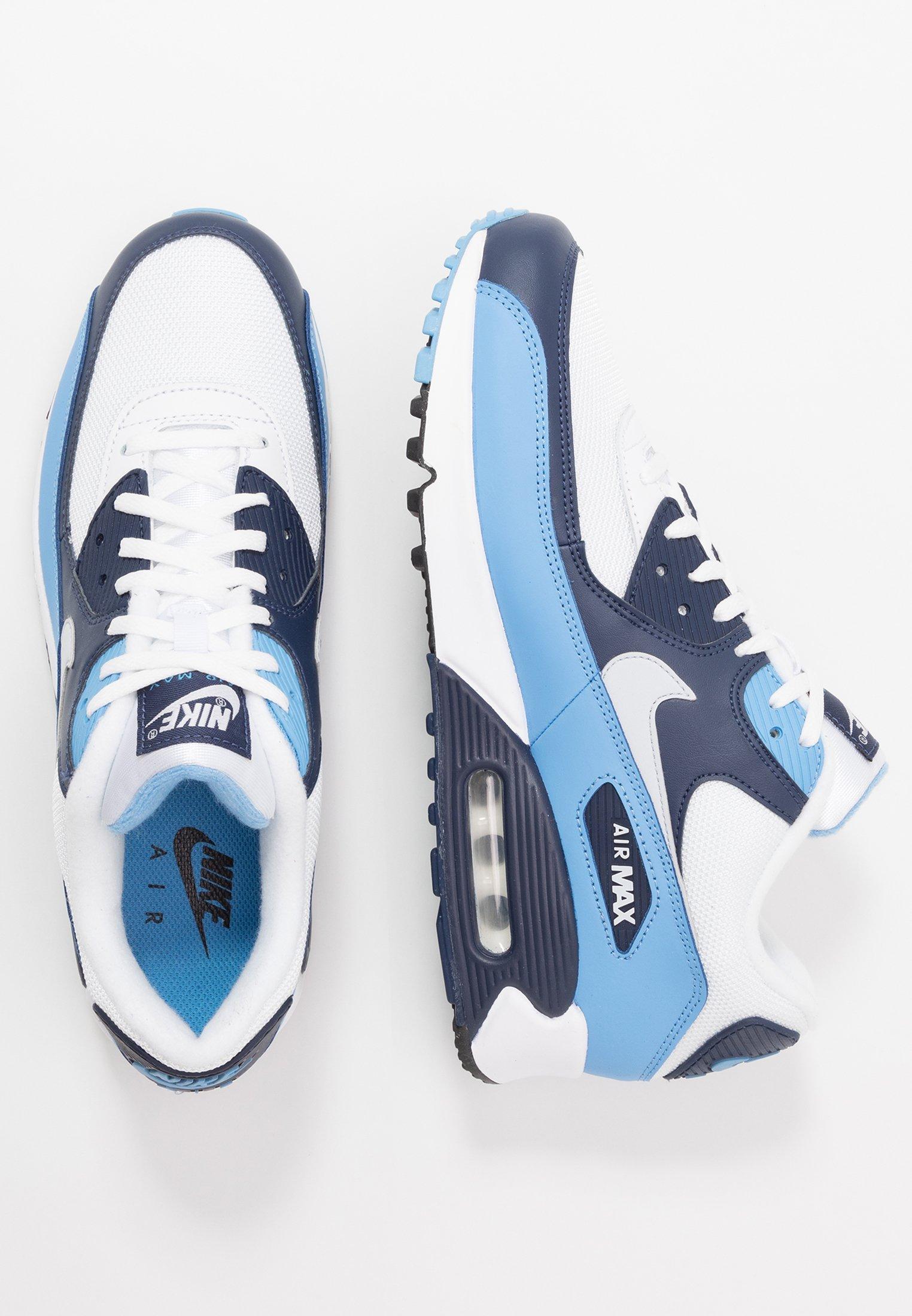 AIR MAX 90 ESSENTIAL Sneakersy niskie whitepure platinumuniversity bluemidnight navy