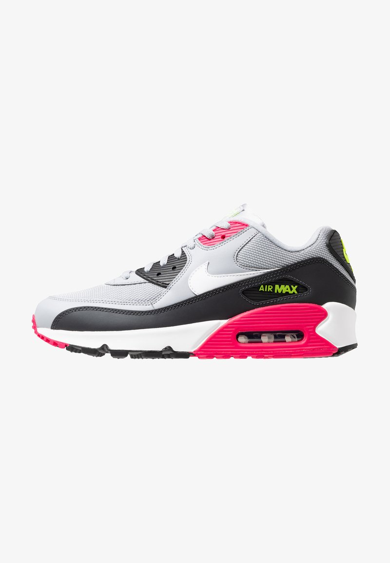 Nike Sportswear - AIR MAX 90 ESSENTIAL - Trainers - wolf grey/white/rush pink/volt/anthracite/black