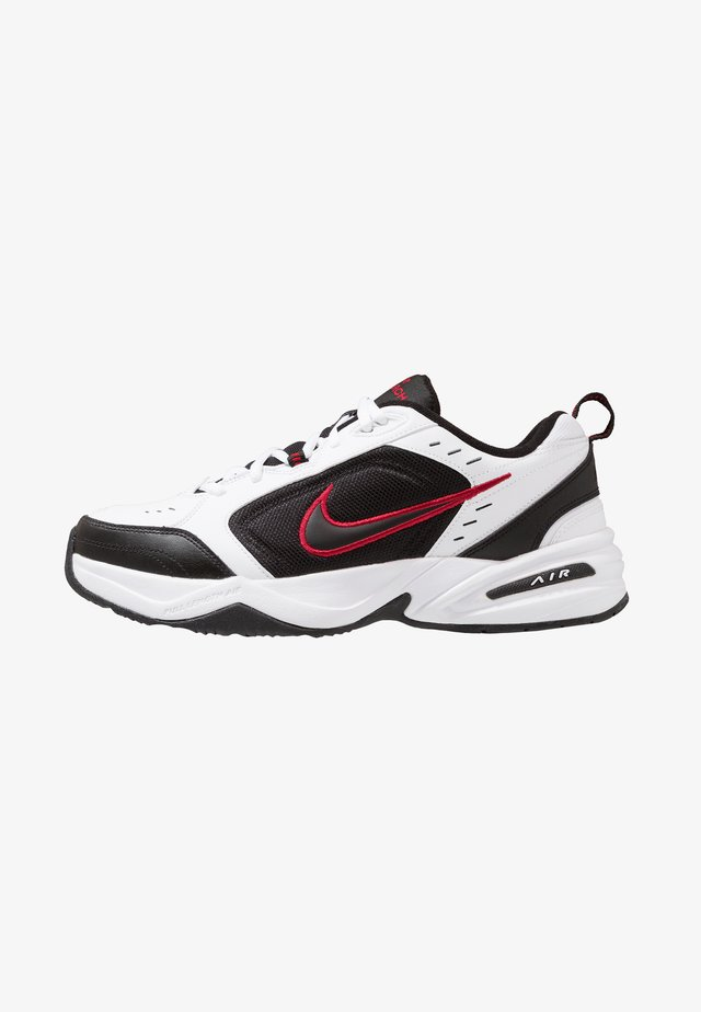 AIR MONARCH IV - Sneakersy niskie - white/black/varsity red