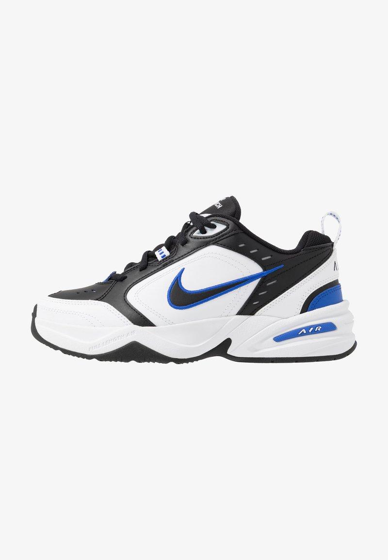 Nike Sportswear - AIR MONARCH IV - Sneakers laag - black/white/racer blue