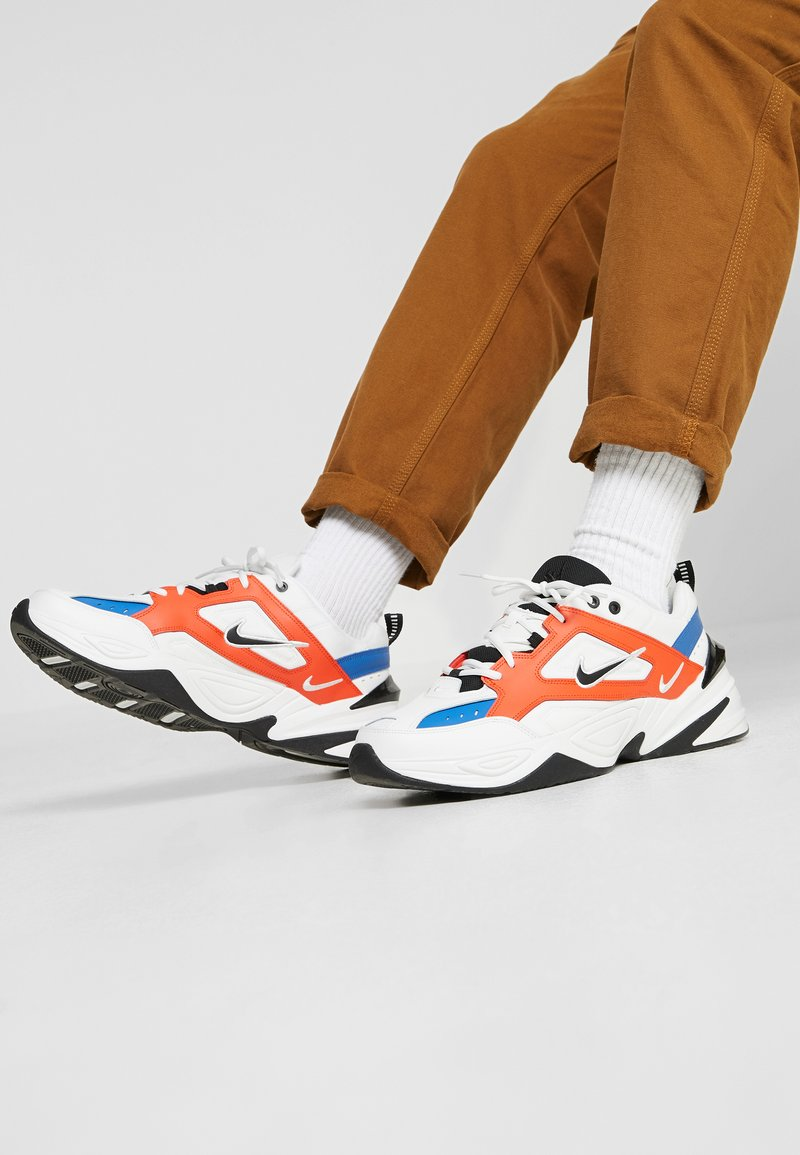 Nike Sportswear - M2K TEKNO - Sneaker low - summit white/black/team orange/mountain blue