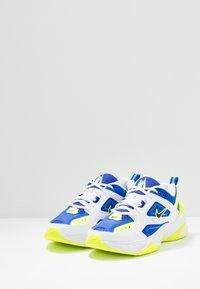 Nike Sportswear - M2K TEKNO - Matalavartiset tennarit - white/black/volt/racer blue - 3