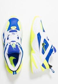 Nike Sportswear - M2K TEKNO - Matalavartiset tennarit - white/black/volt/racer blue - 2