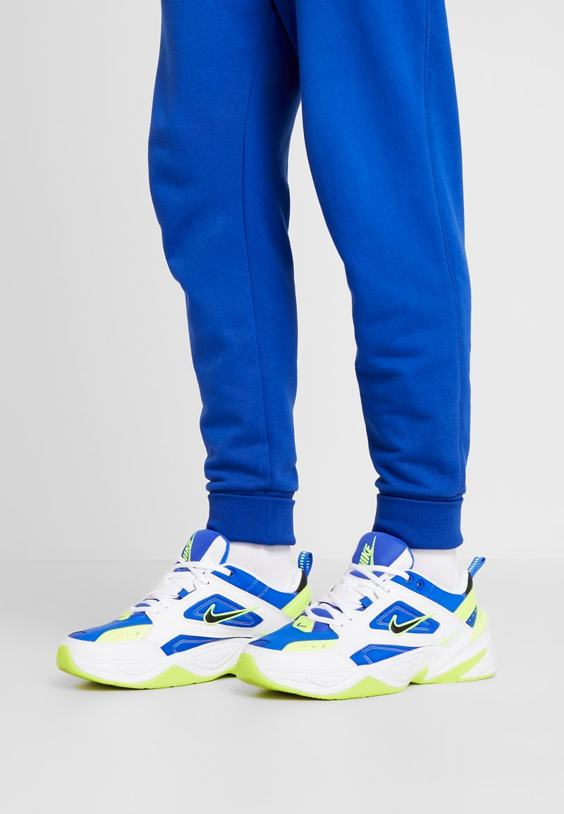 Nike Sportswear - M2K TEKNO - Trainers - white/black/volt/racer blue