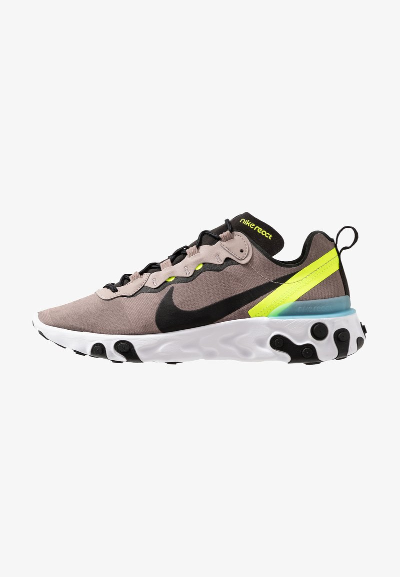 Nike Sportswear - REACT 55 - Sneakersy niskie - pumice/black/white/blue chill/volt