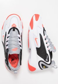 Nike Sportswear - ZOOM 2K - Sneakers - white/infrared 23/wolf grey/black - 3