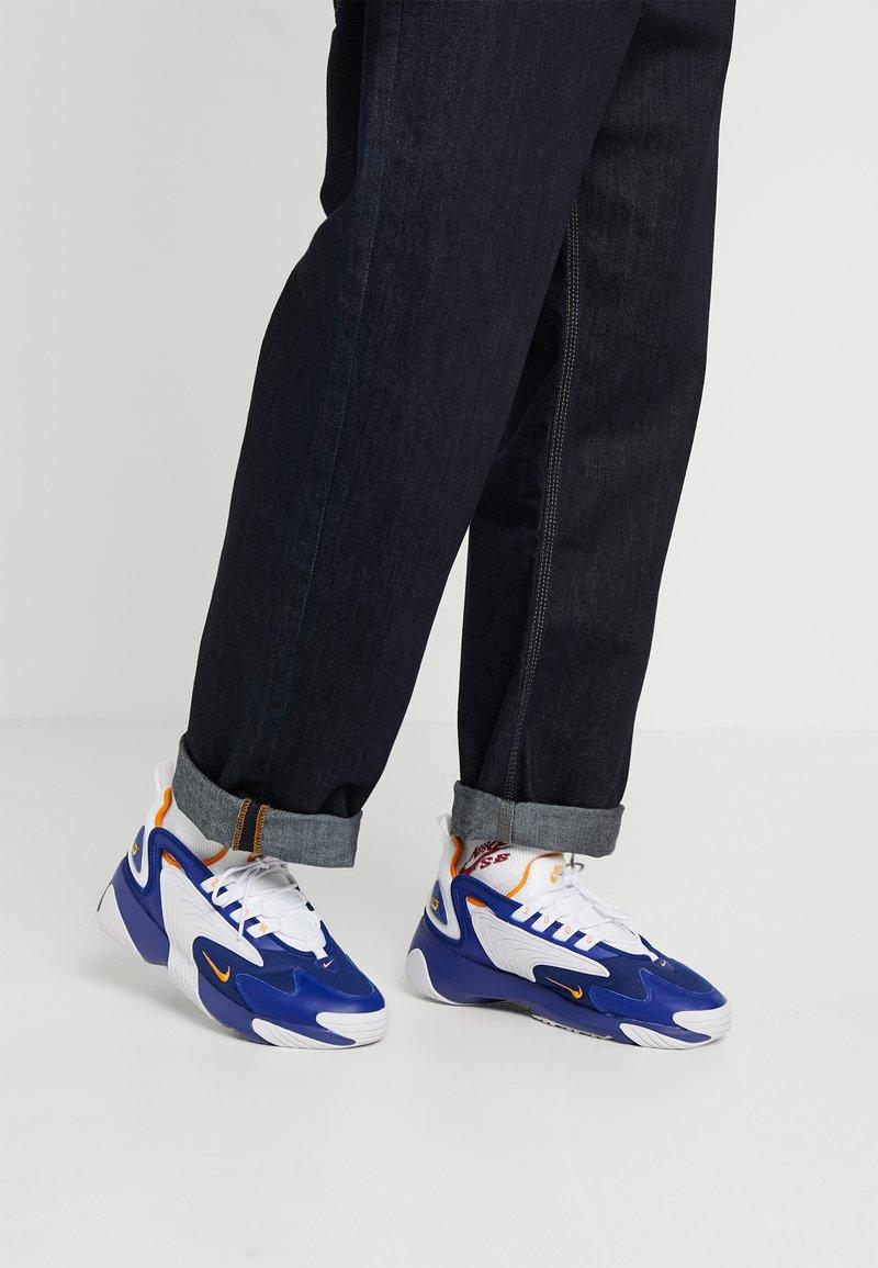 Nike Sportswear - ZOOM 2K - Sneakers - deep royal blue/orange peel/white